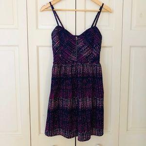 Roxy Purple Dot Dress